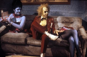 Beetlejuice (1988) aka Beetle Juice; Directed by Tim Burton Shown (center):Michael Keaton (as Beetlejuice); Credit:Warner Bros./Photofest; © Warner Bros.