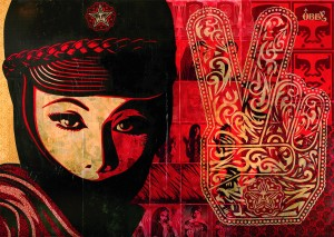 """Mujer Fatal"" by Shepard Fairey; Image courtesy of Obey Giant Art"