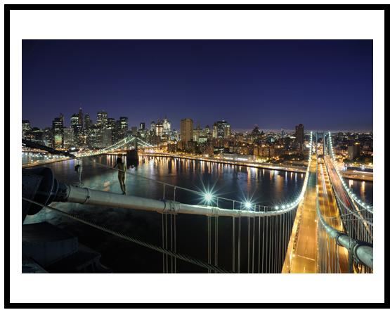 Manhattan Bridge, New York, NY, USA, 2009, Digital C-Print, 101.6 x 152.4cm, by Miru Kim