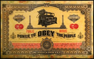 """Power To The People"" by Shepard Fairey; Image courtesy of Obey Giant Art"