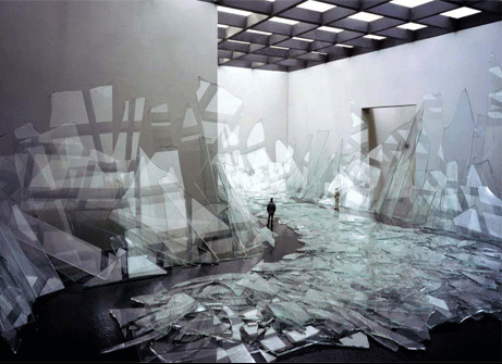 Broken Glass, 2006, by David DiMichele, from Pseudodocumentation